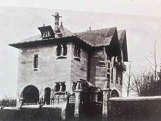 Villa Majorelle - East facade of Villa Majorelle in 1904