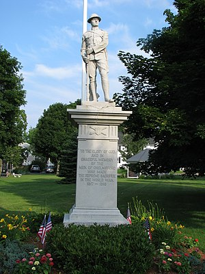 North Chelmsford, Massachusetts - A.W. Vinal statue in Vinal Square, or North Chelmsford Center