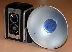 Vintage Kodak Kodaflex II 620 Roll Film Pseudo TLR Camera, Kodet Lens, Made In USA, Produced From 1950 - 1954 (20656164703).jpg