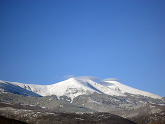 Sistema Ibérico - View of the Moncayo Massif from Alcalá de Moncayo