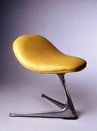 Vladimir Kagan - Vladimir Kagan Designs. Stool. ca. 1960 Brooklyn Museum
