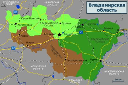 Vladimir oblast map (ru).png