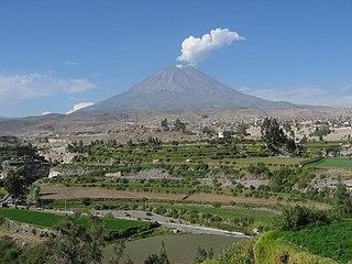 Misti volcano in Peru