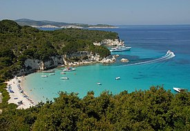 Voutoumi beach at Antipaxoi from the hill.jpg