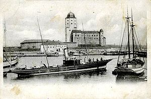 Tower of St. Olav - On postcard the beginnings 20th century
