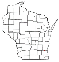 Location of Lisbon, Waukesha County, Wisconsin