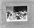 WK ijshockey te Wenen, wedstrijd Rusland tegen Canada 2-1 voor het doel de Canad, Bestanddeelnr 920-1919.jpg