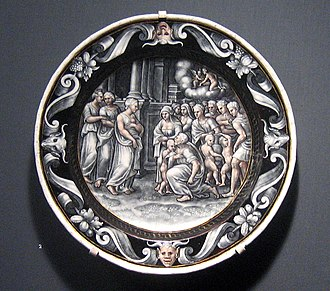 Pierre Courteys - The Adoration of Psyche, 1560. Now at the Los Angeles County Museum of Art.