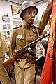 WW2 Soviet Russian Red Army summer uniform Senior lieutenant gymnastiorka steel helmet PP sh 41 machine gun Lofoten Krigsminnemuseum Norway banner 2019 0229.jpg