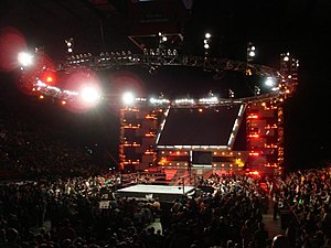 WWE Raw - The USA Network version of the Raw modern titantron set that was used from October 3, 2005 – January 14, 2008
