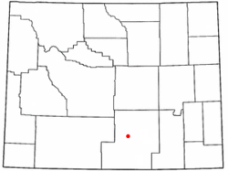 Location of Sinclair, Wyoming