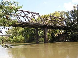 Hampden Bridge, Wagga Wagga Allan Truss bridge over the Murrumbidgee River in Wagga Wagga, New South Wales, Australia