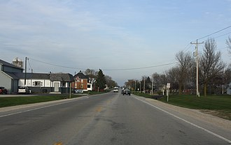 Walhain, Wisconsin - Looking east at Walhain