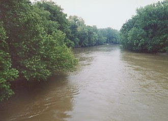 Walhonding River - The Walhonding River at Coshocton in 2004