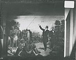 Wall painting in lower corridor showing Joseph Smith preaching to the Indians.jpg