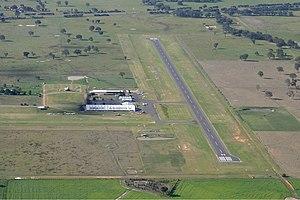 Wangaratta Airport - Image: Wangaratta Airport overview Vabre