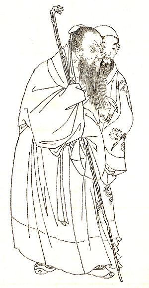 Wani (scholar) - Wani as imagined in 19th-century Japanese drawing