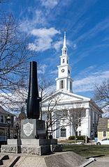 Warren United Methodist Church and Civil War Memorial (Warren Common), Rhode Island
