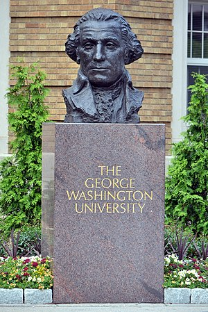 George Washington University School of Medicine & Health Sciences - Image: Washington DC George Washington University Denkmal Brunswyk (2012)