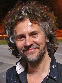 Wayne Coyne outside Wal-Mart.jpg