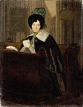 Katharina Waldmüller, porträtiert von ihrem Bruder Josef Weidner (Quelle: Wikimedia)