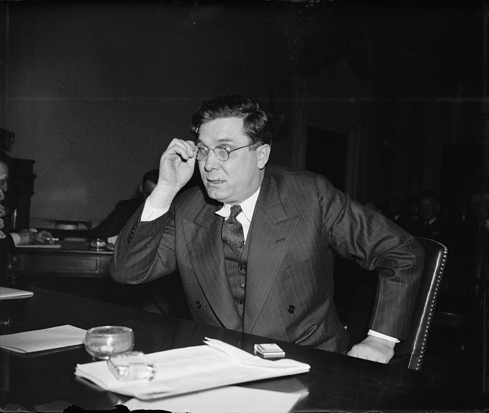 Wendell Willkie testifying - May 17 1939