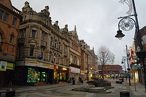 Bridge Street, Warrington - West frontage, upper Bridge Street