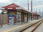 West at 2700 W Sugar Factory Rd passenger platform, Apr 16.jpg