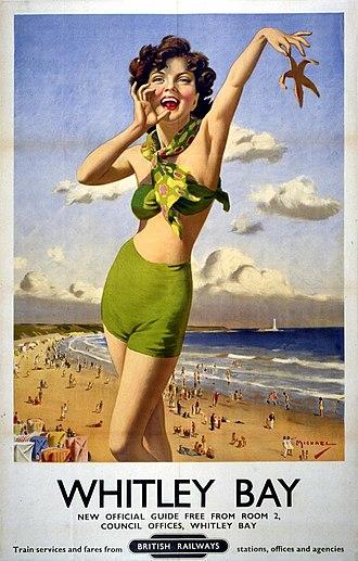 Gill Sans - Gill Sans on a 1949 railway poster.