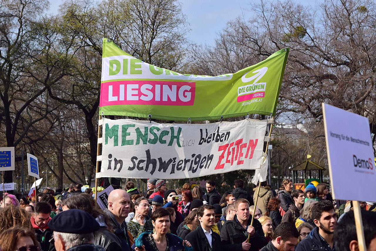 Wien - Demo Flüchtlinge willkommen - Die Grünen Liesing.jpg