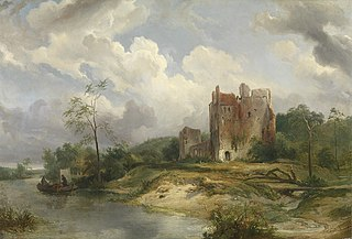 River Landscape with Ruin