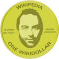 WikiProject Numismatics Gold WikiDollar Award.png