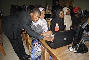 Wikipedia 24 at Fountain University Osun state Nigeria.jpg