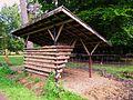 Wildpark Klein-Auheim Futterraufe Juni 2012.JPG