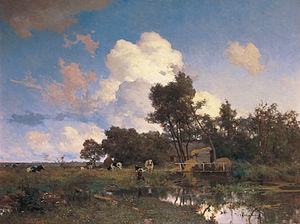 Willem Bastiaan Tholen - Image: Willem Bastiaan Tholen Zomers boerenlandschap