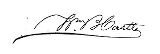 William B. Castle - Image: William B. Castle signature