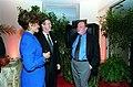 William Cohen and Janet Langhart with Richard Schickel on October 4, 2000, 001004-D-2987S-140.jpg