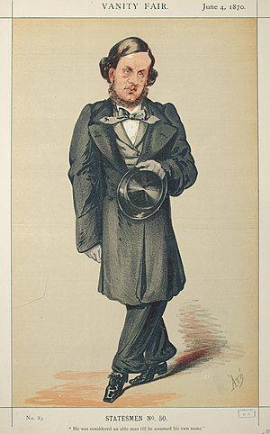 William Vernon Harcourt (politician) - Caricature by ATn published in Vanity Fair in 1870.