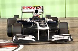 Williams FW33 Pastor Maldonado Singapore 2011.jpg