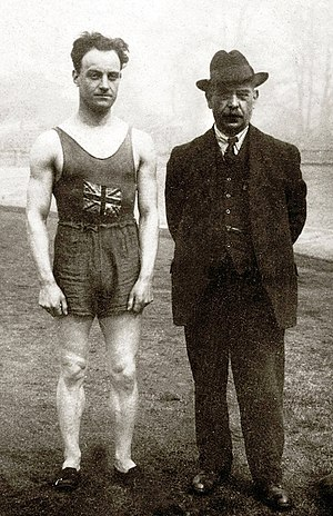Willie Applegarth - Willie Applegarth with coach Sam Mussabini at the 1912 Olympics