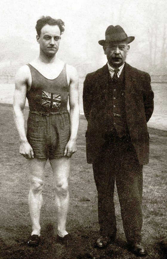 Willie Applegarth and Sam Mussabini 1912