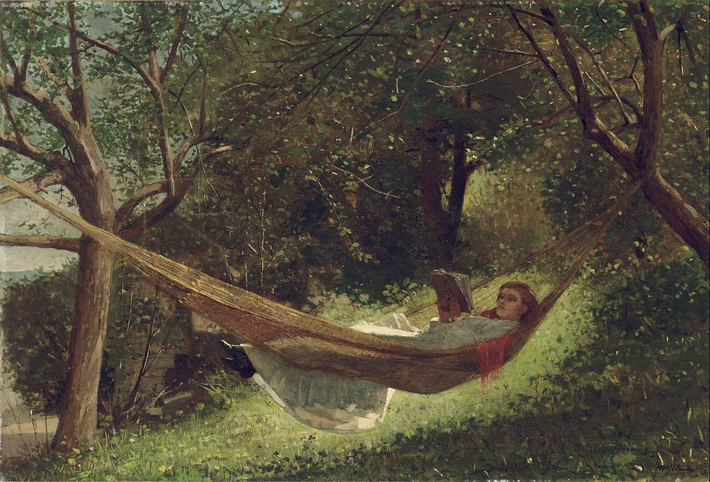 Winslow Homer - Girl in the Hammock