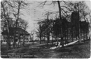 Wittenberg University - Wittenberg College, Carnegie Hall of Science and Recitation Hall, Springfield, Ohio (1911 Postcard)