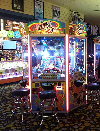Amusement arcade - A Wizard of Oz pushing game that can be found at many arcades today.
