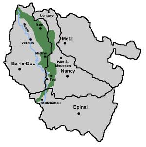 Woëvre - The Woëvre, in green