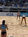 Women's beach volleyball 2012 venue test at Horse Guards Parade London.jpg