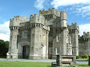 Wray Castle - Wray Castle: its gothic features include fake arrowslits