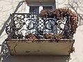 Wrought iron balcony - 23 Tóth Árpád Promenade, 2016 Budapest.jpg