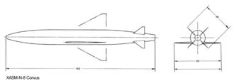 ASM-N-8 Corvus - Image: XASM N 8 Corvus missile drawings 1957