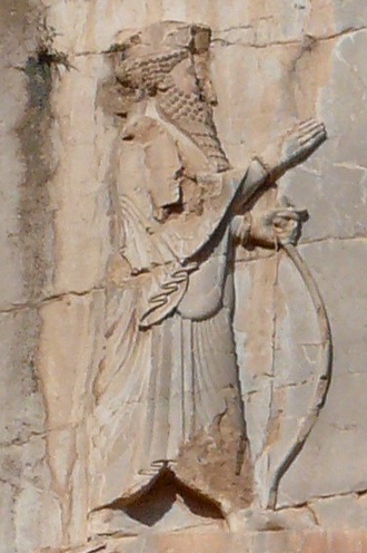 Xerxes I - Rock relief of Xerxes at his tomb in Naqsh-e Rustam